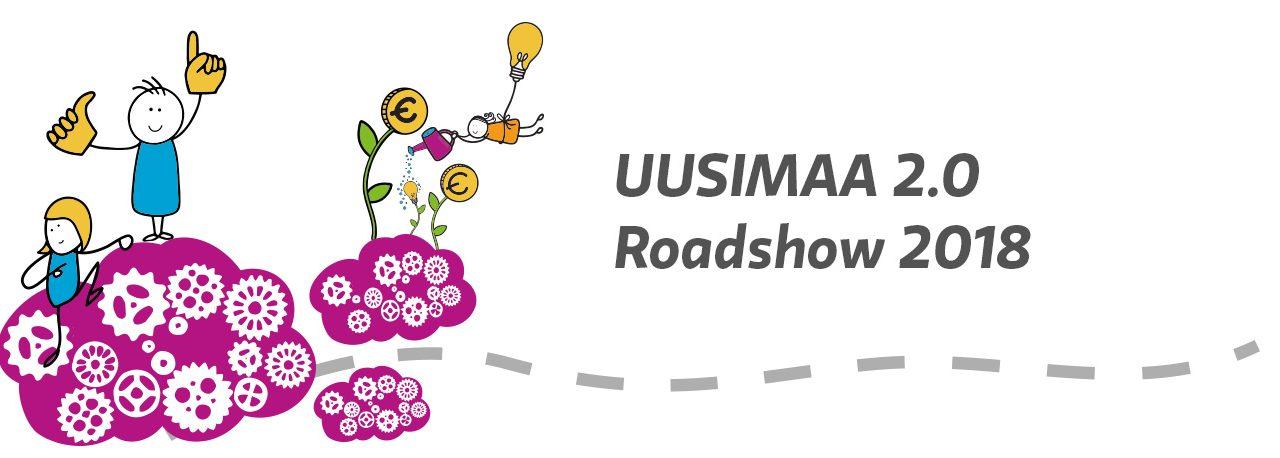 Uusimaa 2.0 Roadshow-kuvitus