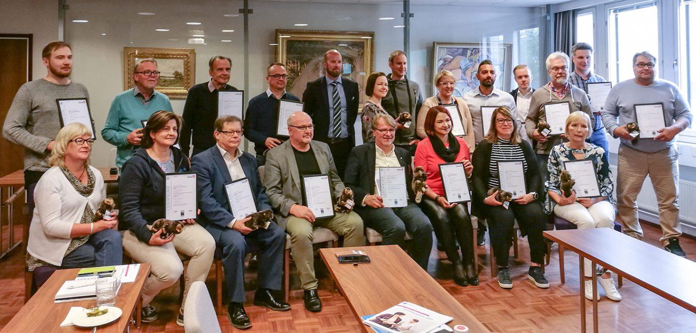 Uusyrityskeskusten yritysneuvonnalle sertifikaatti