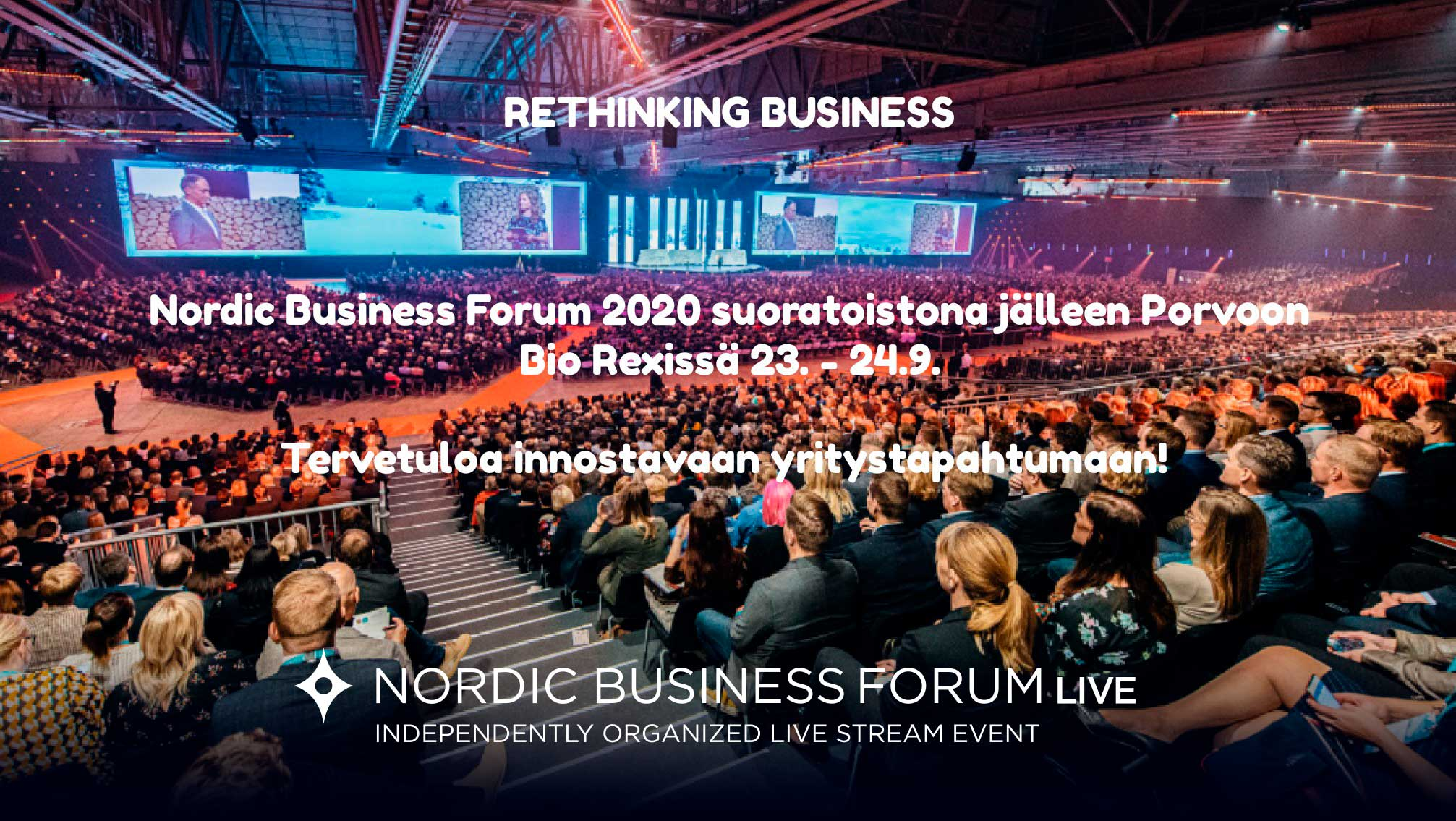 CANCELLED: Nordic Business Forum 2020 as a live stream at Bio Rex Porvoo on 23 – 24  September