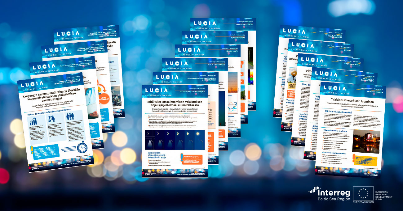 Factsheets and the LUCIA seminar – Exchanging information and experiences of urban lighting