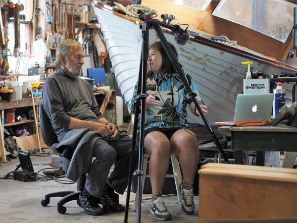 Ednäs varv, Cay Gustafsson studiovieraana studiogäst. Kuvaaja: M. Mikkola